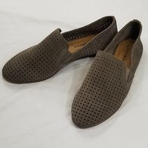 f0b90dde2ce Lucky Brand Shoes - Luck Brand Grey Perforated Suede Carthy Loafer